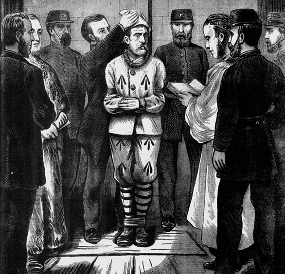 Prisoner about to be hanged