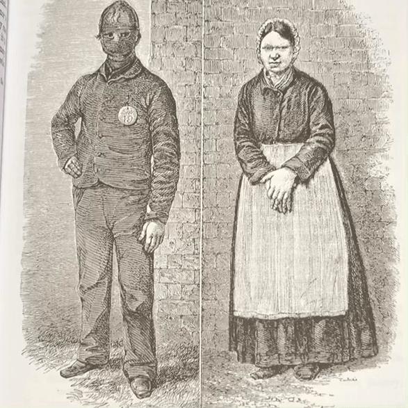Illustration of prisoners